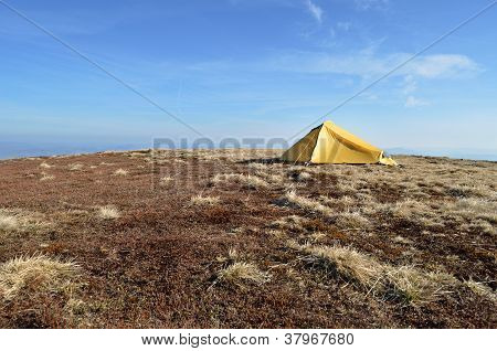 Landscape Of Camping Tent