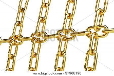 Gold Chain Links Background