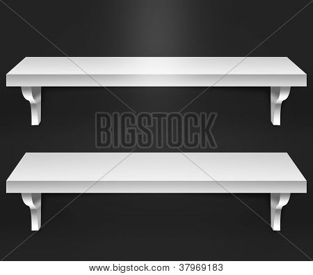Two Shelves BlackBackground