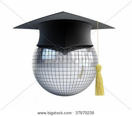 Disco Ball School Graduation Cap