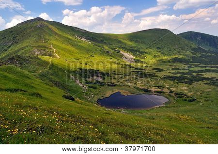 Nesamovyte Mountainous Lake. 1750 M