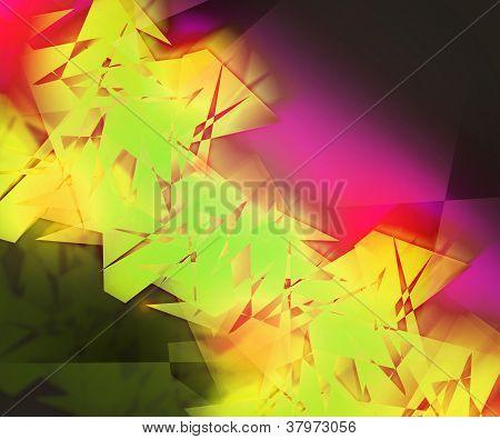 Yellow Strange AbstractBackground