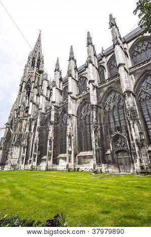 Rouen - Exterior Of Saint-ouen Church