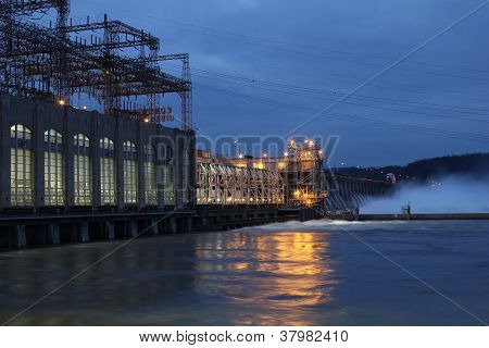 Conowingo Dam At Night
