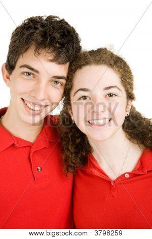 Portrait Of Teen Couple