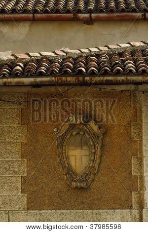 Asolo Italy, Clay Tiles & the Cross