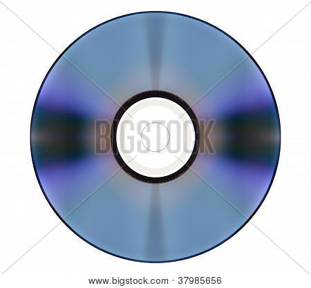 High Definition DVD Video Disc Isolated on White Background, HD 1080p