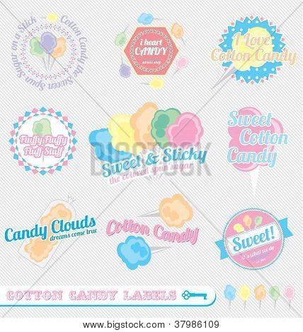 Vintage Cotton Candy Labels