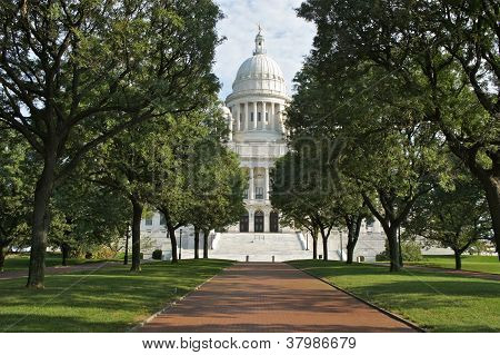 The State House Building in Rhode Island