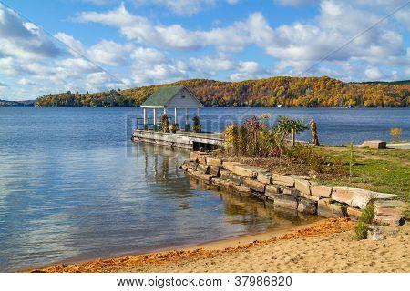 Autumn Landscape with a Gazebo