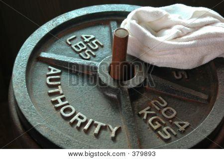 45lb Plate W Towel