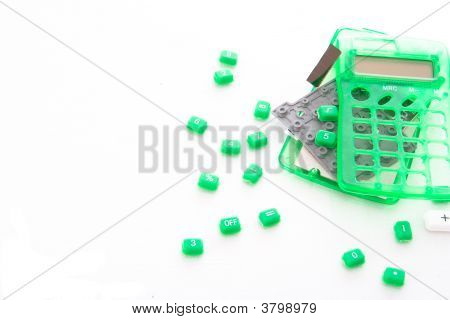 Destroyed Electronic Calculator