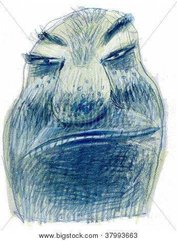 Rough face man