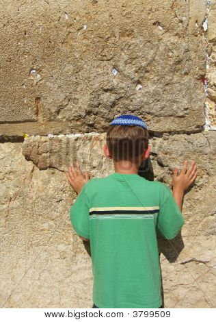 Young Child At The Wailing Wall