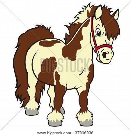 vector y foto caballo pony de dibujos animados bigstock