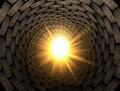 Light At The End Of A Brick Tunnel
