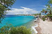 pic of curacao  - This image of a beautiful Caribbean bay with clear turquoise water was taken at West Punt in Curacao - JPG