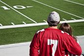 picture of ncaa  - American football fans at field with copy space - JPG