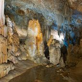 stock photo of stalagmite  - Stalactite stalagmite cavern - JPG