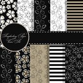 set of beaautiful vector paper for scrapbook