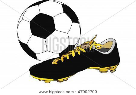 Shoes And Soccer Ball