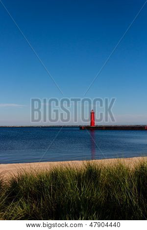 Lighthouse at Muskegon Harbor