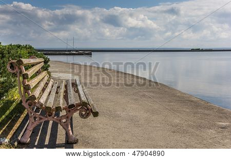 Bench At The Quay On Curonian Spit