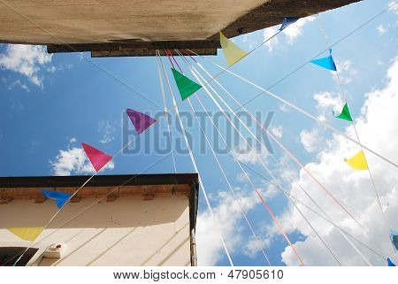 Bunting Flags In Ligosullo