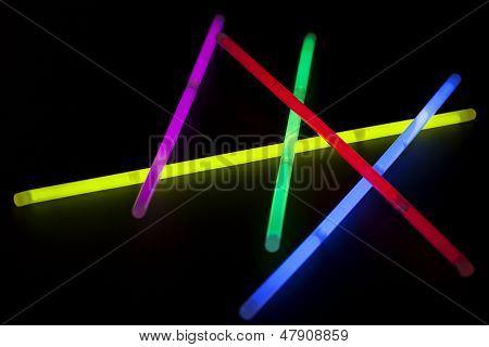 Multicolor glow sticks