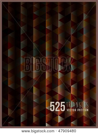 """525 Triangles"", geometric vector background"