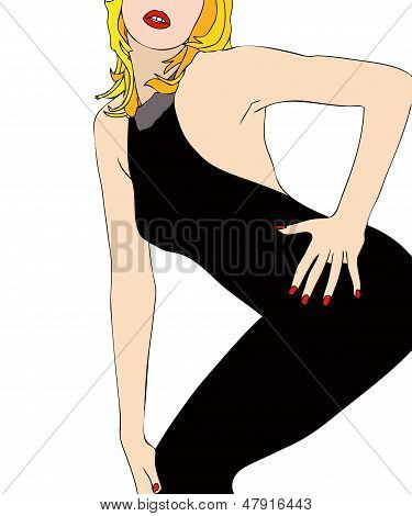 A Sexy Body In A Tight Dress