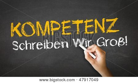 Competence Slogan (in German)