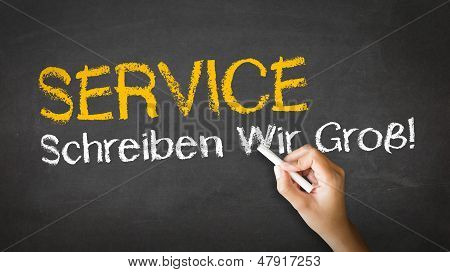 Service Slogan (in German)