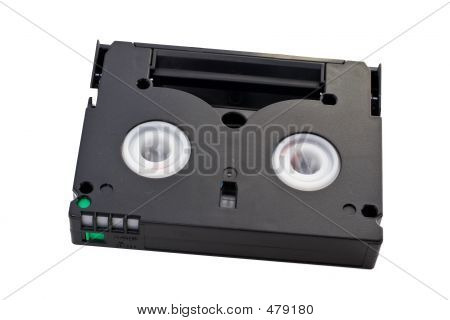 Mini Dv Cassette With Clipping Path Included.