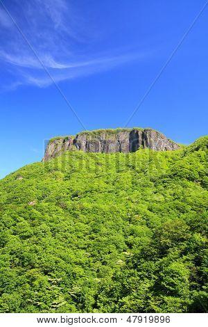 Crag Mountain With Fresh Verdure