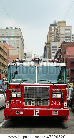 FDNY Tower Ladder 12 truck in Manhattan