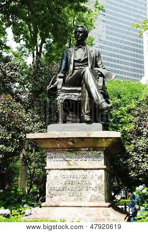 William H. Seward statue at  Madison Square Park