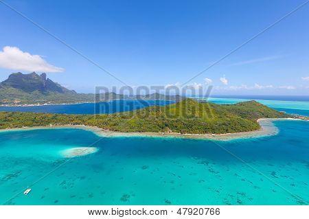 Bora Bora Island From Air
