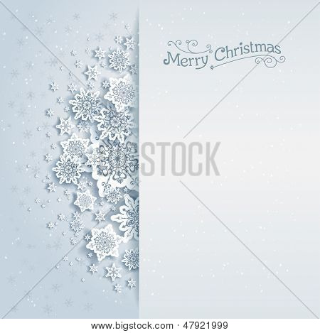Christmas vector background with space for text