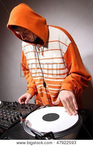 Hip Hop Dj Scratching The Music Record