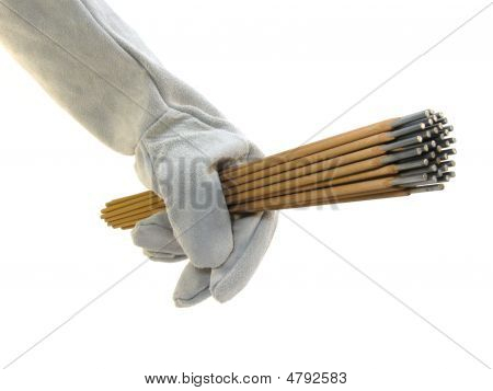 The Hand Of The Welder.