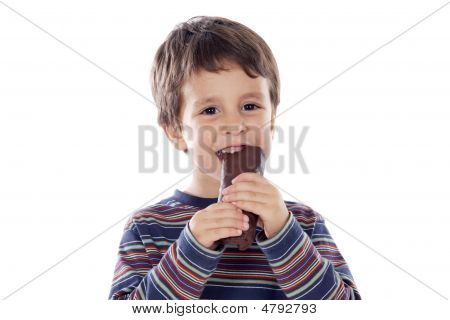 Child Eating A Buns