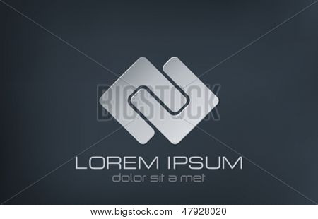 Abstract vector logo design template. Luxury sign. Fashion symbol. Jewelry concept. Creative icon.
