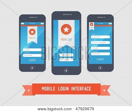 Mobile Login Interface Form