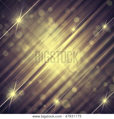 Abstract Vintage Violet Grey Background With Shining Lines And Stars