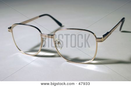 Spectacles On White