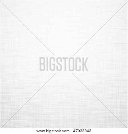 Realistic white linen texture pattern. Vector eps10.