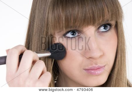 Female Model With Make Up