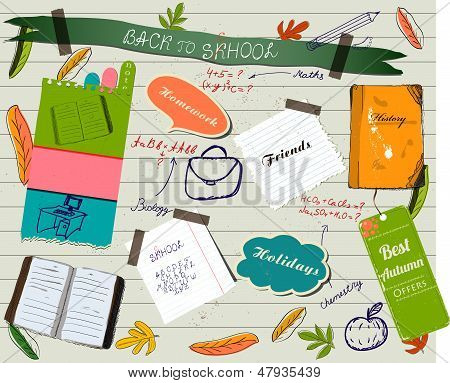 Back to school scrapbooking poster.