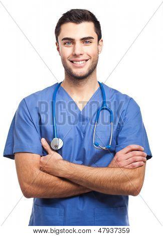Handsome male nurse portrait